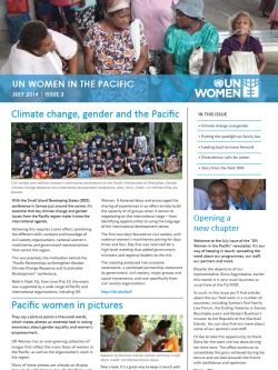 UN women Pacific Newsletter 2