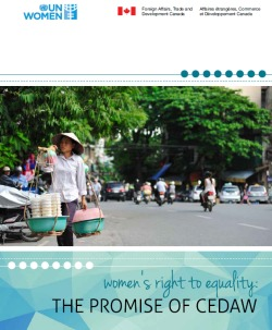 Women's Right to Equality: The Promise of CEDAW