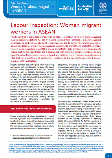 Labour inspection: Women migrant workers in ASEAN