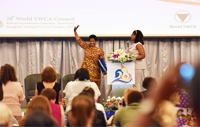 Executive Director address YWCA World Council. Photo: UN Women/Pathumporn Thongking