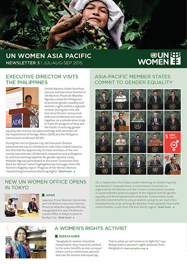 UN Women Asia Pacific Newsletter 3/2015
