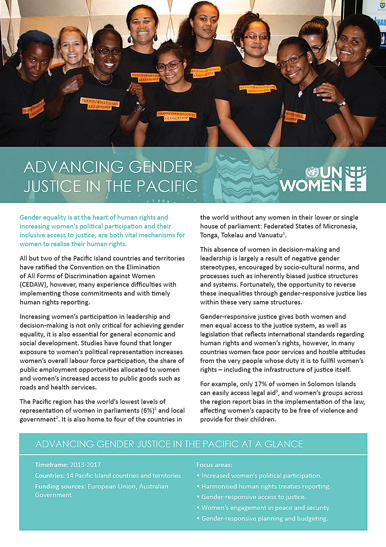 Advancing Gender Justice in the Pacific