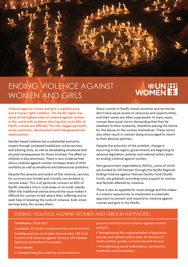 Ending Violence against Women and Girls