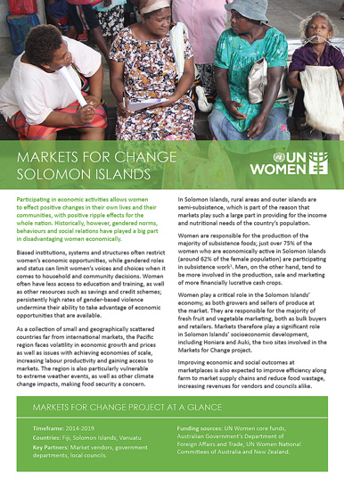 Markets for Change Solomon Islands