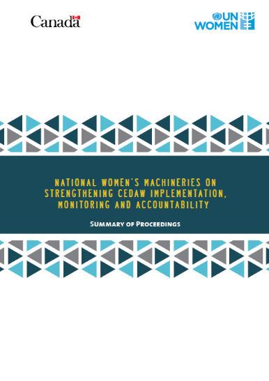 National women's Machineries on Strengthening CEDAW Implementation, Monitoring and Accountability Proceedings