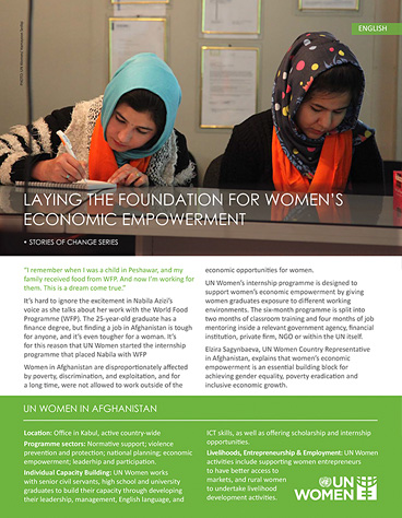 Laying the foundation for women's economic empowerment