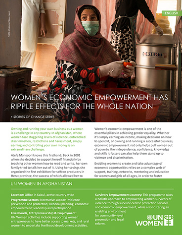 Women's economic empowerment has ripple effects for the whole nation