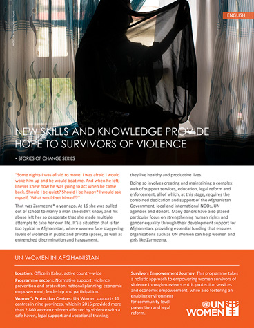 New skills and knowledge provide hope to survivors of violence
