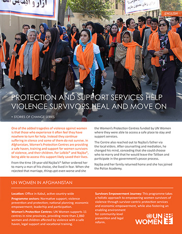 Protection and support help violence survivors heal and move on