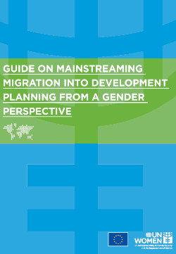 Guide on mainstreaming migration into development planning from a gender perspective