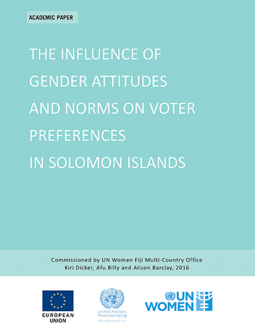 The influence of gender attitudes and norms on voter preferences in solomon islands