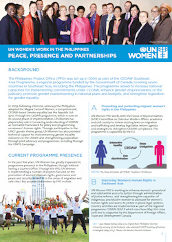UN Women's Work in the Philippines: Peace, Presence and Partnerships