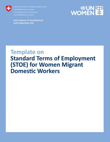 Template on Standard Terms of Employment (STOE) for Women Migrant  Domestic Workers