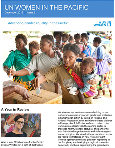 UN Women in the Pacific Newsletter | Issue 9/2016