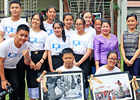 High school students in Vientiane capture, and appreciate, moments of working women