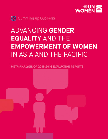 Summing up Success: Advancing Gender Equality and the Empowerment of Women in the Asia Pacific Region