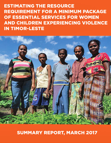 Estimating the resource requirement for a Minimum Package of Essential Services for Women and Children experiencing violence in Timor-Leste