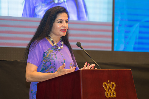 """Enabling empowered women to work equally in all the productive sectors"" —Lakshmi Puri"