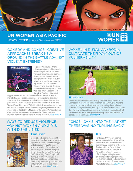 UN Women Asia Pacific Newsletter | July - September 2017