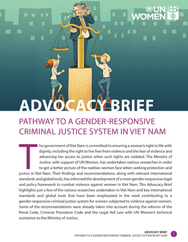 Pathway to a Gender-responsive Criminal Justice System in Viet Nam