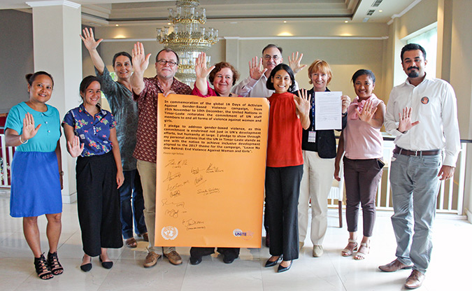 The United Nations in Timor-Leste reaffirm its commitment to end gender-based violence
