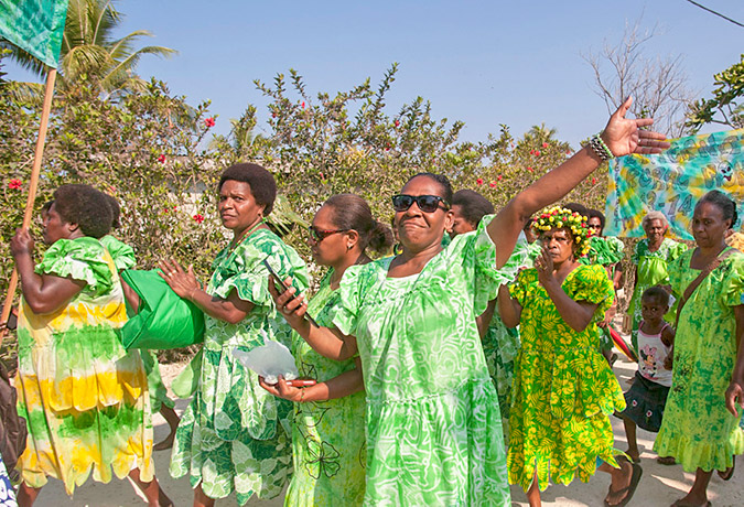 Rural women from around Efate gather together to celebrate the International Day of Rural Women at Erakor Village in October 2016. Photo: UN Women/Murray Lloyd