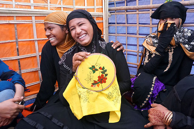 """I want to help other women""—Rohingya women strive to reclaim a life of dignity"