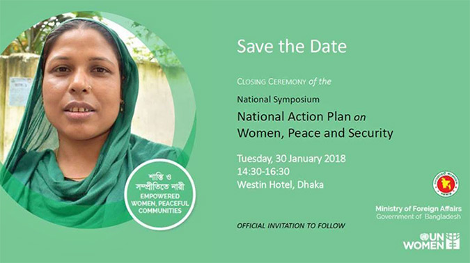 Closing Ceremony of the Symposium on the National Action Plan on Women, Peace and Security