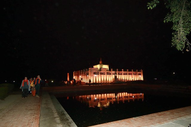 Lumbini lighted up to mark 16 Days of Activism against Gender-Based Violence