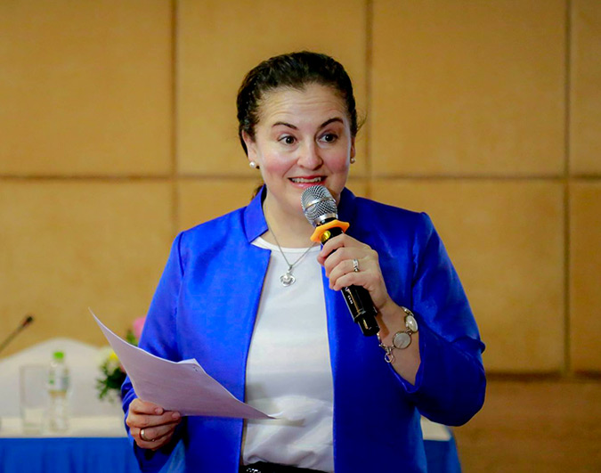 """A gender-sensitive HIV response would need to focus on improving access to sexual and reproductive health and HIV services, mobilizing communities to eliminate unequal gender norms and behaviours including gender-based violence, and investing in women's leadership in HIV response.""- Elisa Fernandez, UN Women Head of Office in Viet Nam Photo: UN Women/Vu Han"