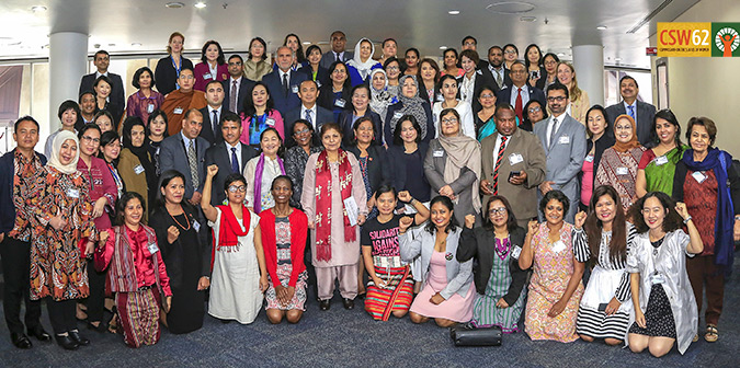 Delegations, Asia-Pacific High-level Meeting for CSW 62. Photo: UN Women/Pathuumporn Thongking