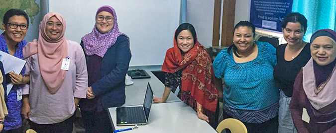 With the Autonomous Region of Muslim Mindanao Government and the Lanao del Sur Provincial Government. They are working to build women's engagement in preventing violent extremism through the Regional Action Plan on Women, Peace and Security for Mindanao. Photo: UN Women/Riza Torrado