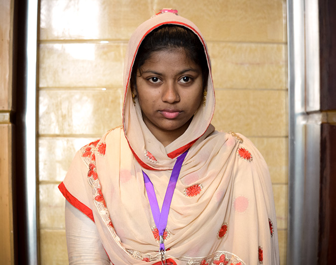 "Fahima Akhter Sumaiya: ""We feel we can achieve bigger things."" Photo: CARE/Kazi Mirzan"