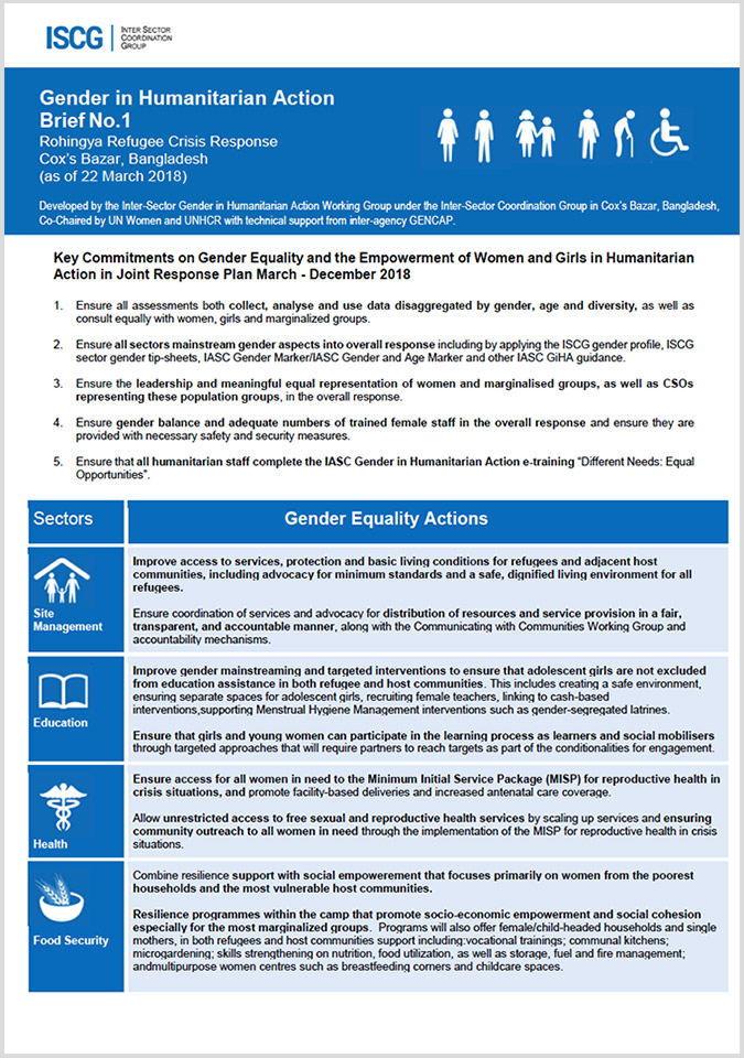 The Gender Equality in Humanitarian Action (GIHA) Brief No. 1| 2018