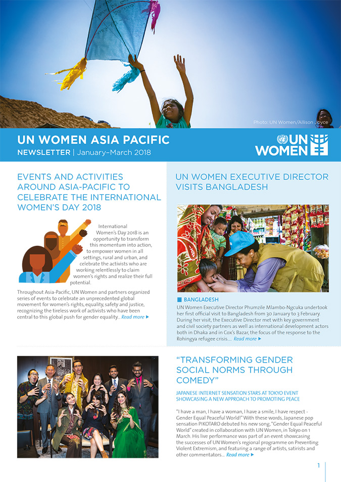 UN WOMEN ASIA PACIFIC NEWSLETTER | January–March 2018