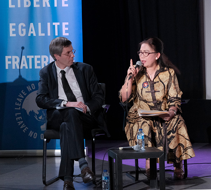 UN Women and Institut Français d'Indonésie jointly organized public lecture and discussion on Feminism and Women's Rights
