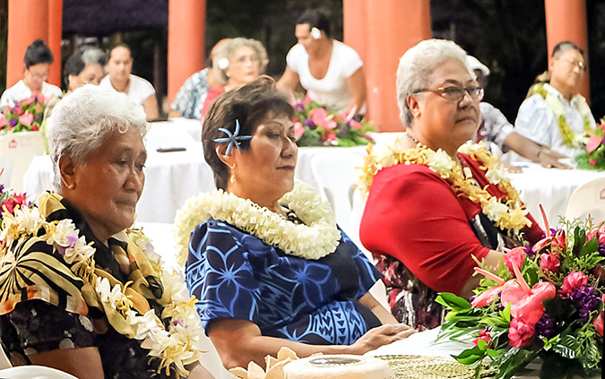 Deputy Prime Minister Fiame Naomi Mataafa, Minister of Women, Community and Social Development, Faimalotoa Kika Stowers, and Sister Vitolia Mo'a, Advocate and Academic. Photo: UN Women