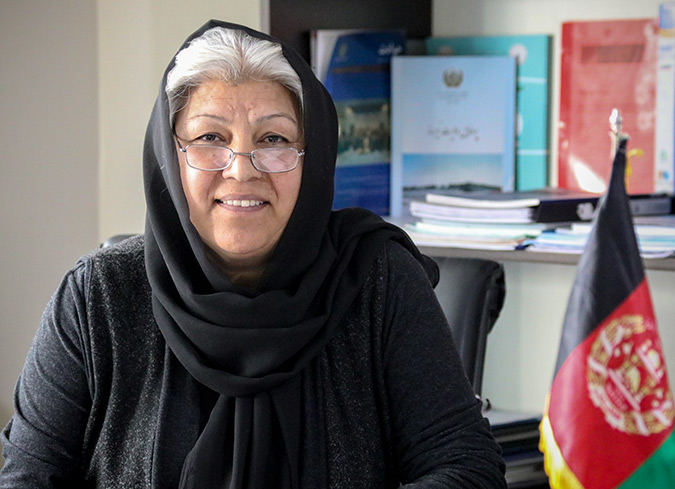"""""""I needed to learn to lead myself before I could lead others"""" — an Afghan women's rights leader talks about UN Women's leadership training"""