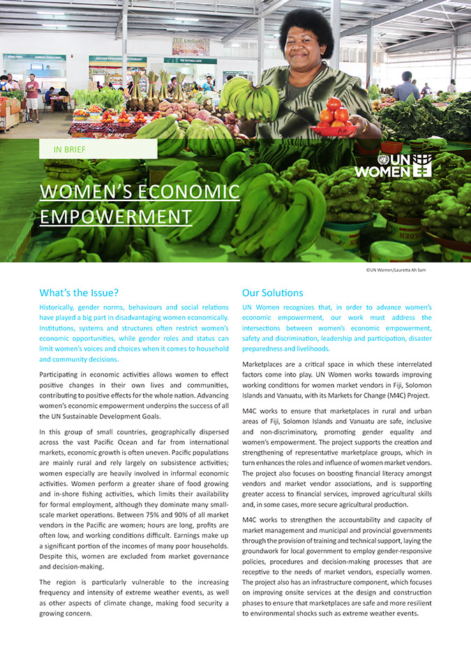 Brief: Women's Economic Empowerment