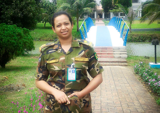 Maj Ishrat Maria Mitu, UN Peacekeeper. Photo: UN Women/Samara Mortada