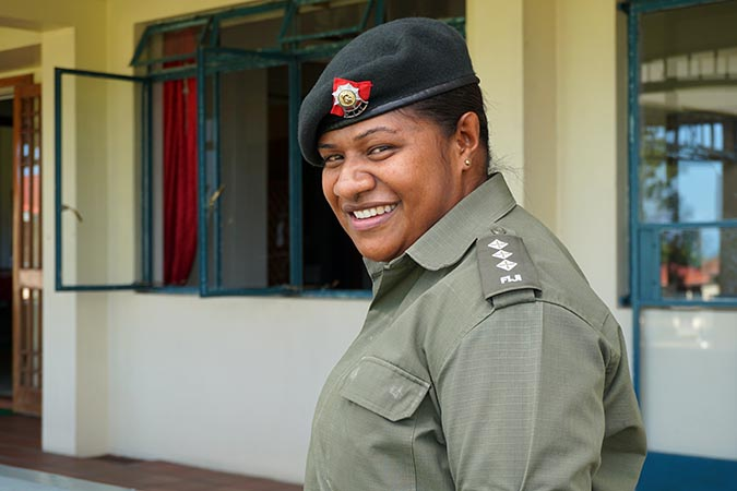 Captain Anaseini Navua Vuniwaqa of the Republic of Fiji Military Forces. Photo: UN Women/Caitlin Gordon-King