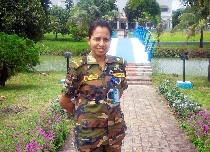 """From where I stand: """"I have a strong role to play as a UN Peacekeeper from Bangladesh, I need to make my nation proud."""""""