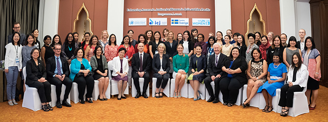Attendees of the public launch of the programme on enhancing women access to justice in Asia. Photo: UN Women/Pornvit Visitoran