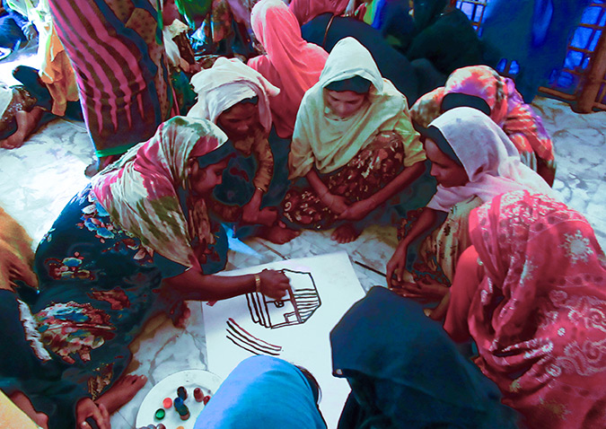 Empowering Rohingya women and girls through art