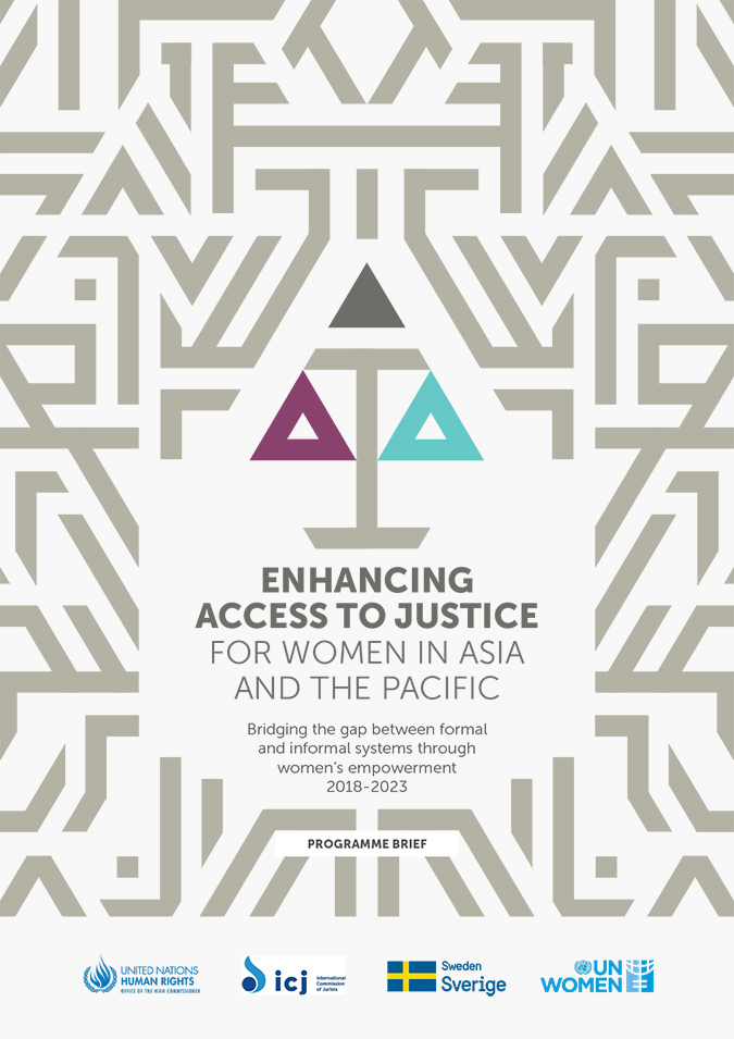 Enhancing Access to Justice for Women in Asia and the Pacific