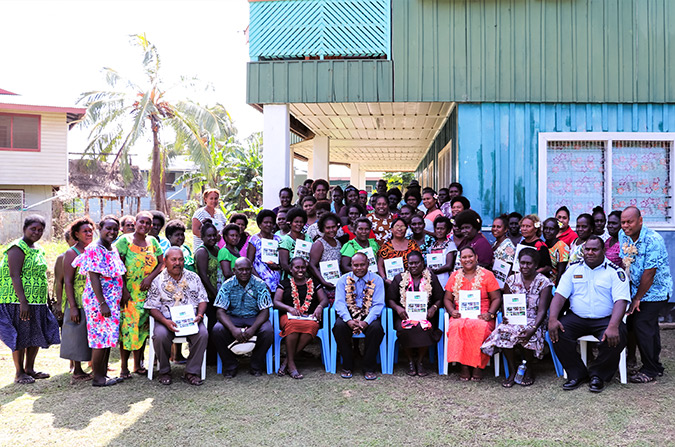 Women representing all 26 wards in Western Province and provincial women's organizations attended the launch in Gizo on 18 July 2018. Photo: UNDP/Merinda Valley