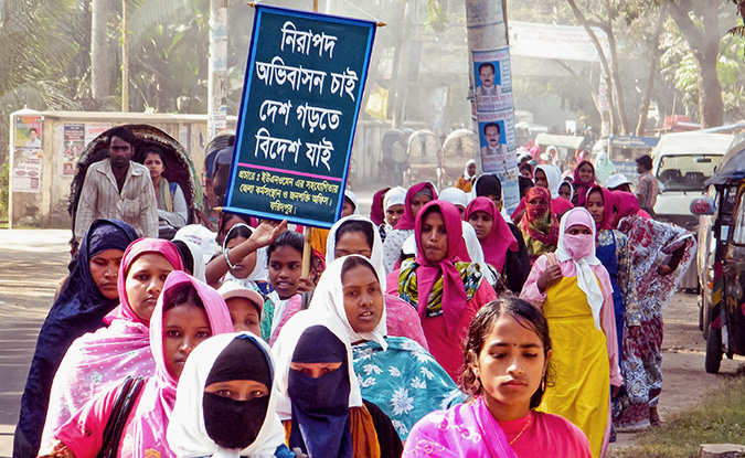 The rally that was organized by UN Women was also meant to increase awareness about safer migration amongst Bangladeshi women traveling abroad for work.   The participants of the rally were mainly returnee women migrant workers, some aspirant women migrant workers, local NGO workers, government officials and some other related stakeholders. Photo: UN Women
