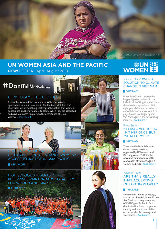 UN Women Asia and the Pacific Newsletter | April–August 2018