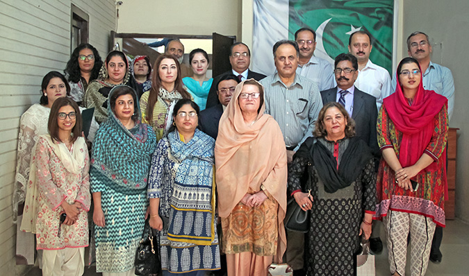 A group photo of all the participants of the exposure visit. Photo: UN Women/Shahzeb Baig