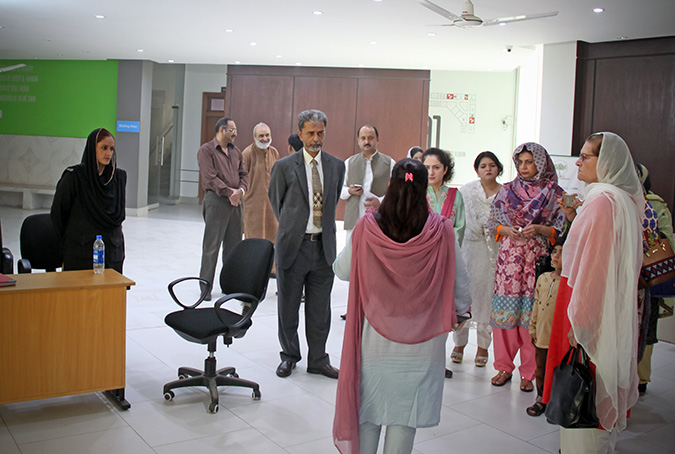 A delegation of UN Women, government officials and representatives visited the Violence Against Women Centre in Multan. Photo: UN Women/Shahzeb Baig